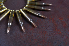 Group of  ammunition geometrically placed. Stock Photo