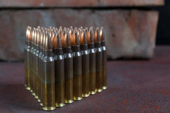 Group of  ammunition geometrically placed Royalty Free Stock Images