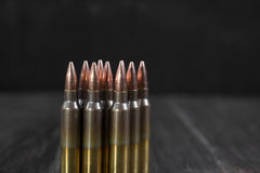 Group of  ammunition geometrically placed Royalty Free Stock Photos