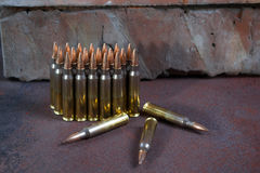 Group of  ammunition geometrically placed Royalty Free Stock Photography