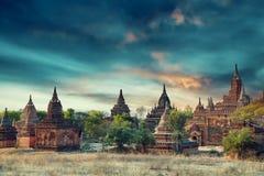 Group of ancient pagodas at the morning in Old Bagan, Myanmar