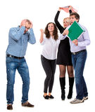 Group of angry business people Royalty Free Stock Photos
