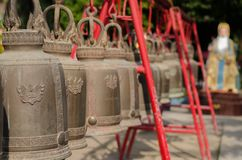 Group of antique bells Stock Photography
