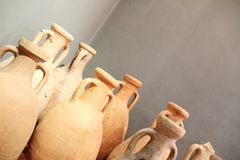 Group of antique vases restored Royalty Free Stock Photography