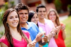 Group applauding Stock Images