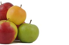 Group of apples isolated Stock Photos