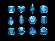 Group of  aquamarine shape with clipping path Stock Images