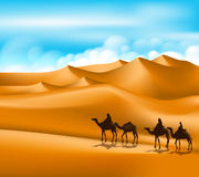 Group of Arab People with Camels Caravan Riding Stock Photos