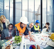 Group of Architect and Engineer Discussion Royalty Free Stock Images
