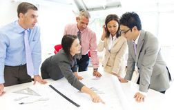 Group of architect people meeting Royalty Free Stock Image