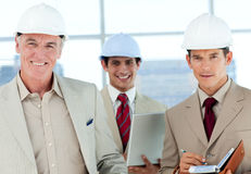 A group of architect smiling at the camera Stock Image