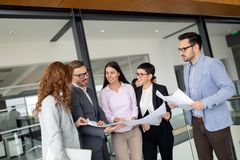 Group of architects and business people working together royalty free stock photography
