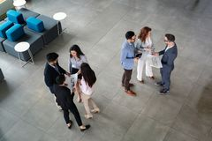 Group of architects and business people working together royalty free stock images