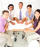 A group of architects discussing a plan Stock Photography