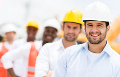 Group of architects and engineers Stock Photo