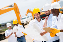 Group of architects and engineers Stock Photos