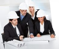 Group of architects at the meeting Royalty Free Stock Photo