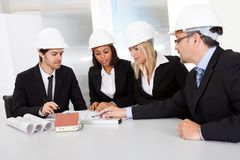 Group of architects at the meeting Royalty Free Stock Image