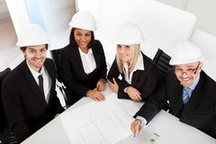 Group of architects at the meeting Stock Photos