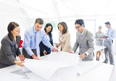 Group of Architects Planning on a New Project Royalty Free Stock Images