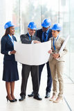 Group architects working Royalty Free Stock Image