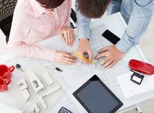 Group of architects working in an office Royalty Free Stock Photo
