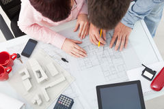 Group of architects working in an office Royalty Free Stock Images