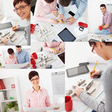 Group of architects working in an office Stock Images