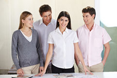Group in architectural office Stock Photos