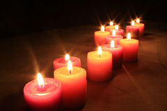 Group of aroma candles Stock Photos