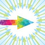 Group of arrow. Teamwork and leadership concept Stock Image