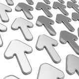 Group of arrows over white as abstract background Stock Photos