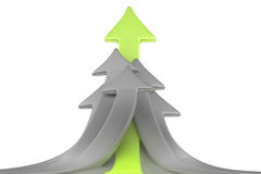 Group of arrows pointing up Royalty Free Stock Photo