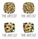 Group of Art Business Logo Designs Stock Image