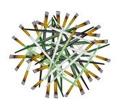 Group of Artist Brushes on White Background Royalty Free Stock Photography