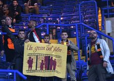Group of AS Roma fans Stock Image