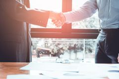 Group asia businessman together create a mutually beneficial business relationship. royalty free stock image