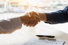 Group asia businessman together create a mutually beneficial business relationship. stock image