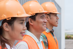 Group of Asian architects Royalty Free Stock Photos