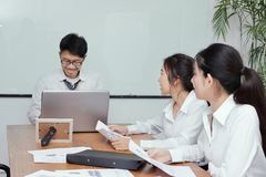 Group of Asian business corporate people meeting in conference room Stock Photography