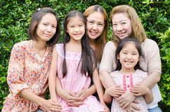 Group of Asian family . Stock Photo