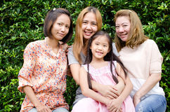 Group of Asian family . Stock Photos
