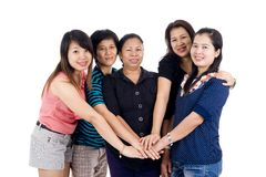Group of asian friends Royalty Free Stock Photography