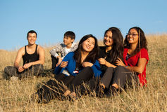 Group of asian people Royalty Free Stock Photos