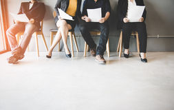 Group of asian people waiting for job interview. Business Concept Stock Photo