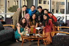 Group of Asian Students Stock Image