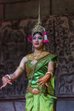 A group of Aspara Dancers were performing at a public perform in Siem Reap,Cambodia. Siem Reap,Cambodia - 28.06.2017 :A group of Aspara Dancers were performing Stock Photography