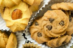 Group of assorted cookies Stock Photos