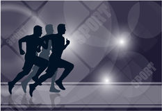 Group of athletes on an abstract background Stock Photos