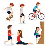 Group of athletes avatars characters Stock Photo